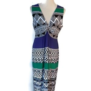 Chico's Size 2 Multicolored Sleeveless Maxi Dress